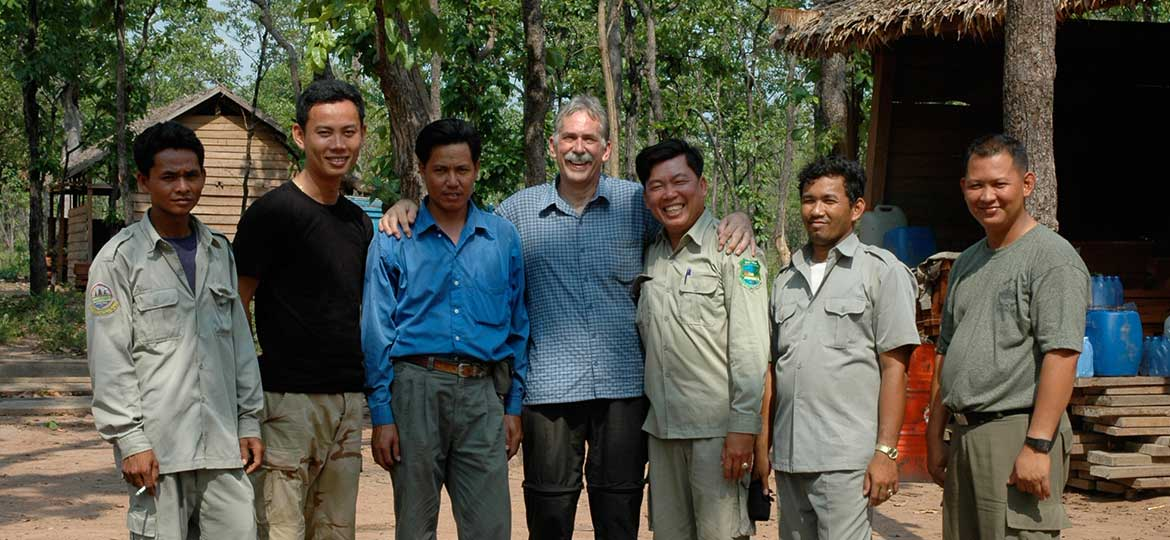Project team are Kulen-Protep Wildlife Sanctuary, Cambodia