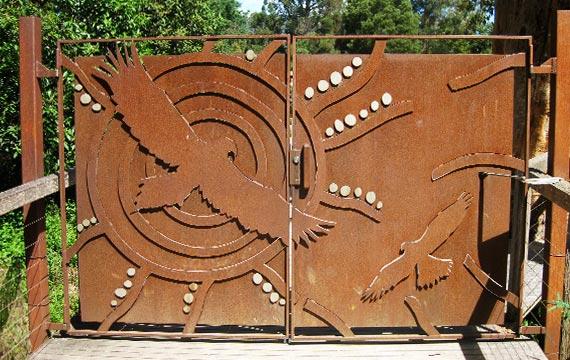 Healesville Sanctuary Gate Detail