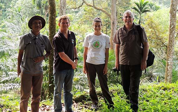 Project Team at Orangutan Haven North Sumatra